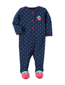 Carter's® Strawberry & Dotted Print Sleep & Play - 0-9 Mos.