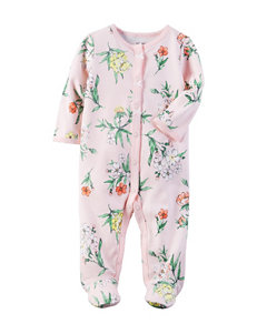 Carters® Pink Floral Sleep & Play - Baby 0-9 Mos.