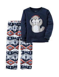 Carter's® 2-pc. Walrus Top & Aztec Print Pants Pajama Set - Boys 10-12