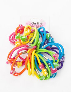 On The Verge 36-pk Hair Ties with Beads - Girls