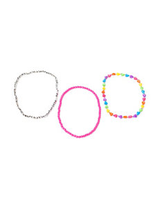 On The Verge 3-pk. Heart Bead Stretch Necklaces