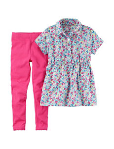 Carter's 2-pc. Floral Print Top & Leggings Set - Baby 12-24 Mos.