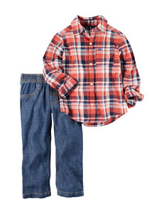 Carter's 2-pc. Plaid Shirt & Jeans Set - Baby 9-24 Mos.