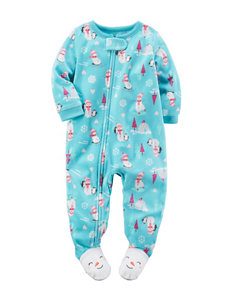 Carter's® Snowman & Penguin Print Sleeper - Toddler Girls