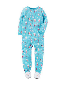 Carter's® Snowman & Penguin Print Footed Pajama - Girls 4-8