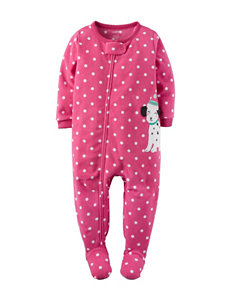 Carter's® Polka Dot Print with Dalmatian Appliqué Footed Pajama - Girls 4-8