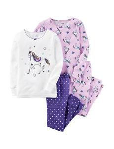 Carter's® 4-pc. Horse Print Pajamas Set - Toddler Girls