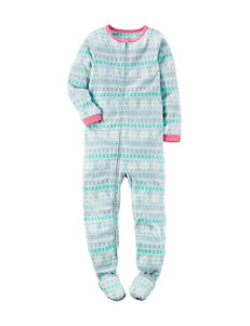 Carter's® Pastel Fair Isle Footed Fleece Pajama- Girls 4-8