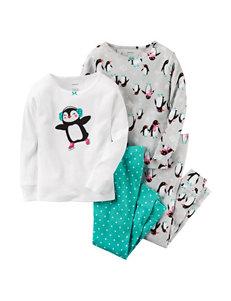 Carter's® 4-pc. Penguin Print Pajama Set - Girls 4-8