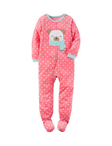 Carter's® Dog & Dot Print Footed Fleece Sleeper - Girls 4-8