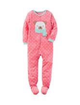 Carter's® Dog & Dot Print Footed Fleece Sleeper - Girls 4-8