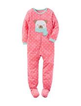 Carter's® Dog & Dot Footed Fleece Sleeper - Girls 10-14
