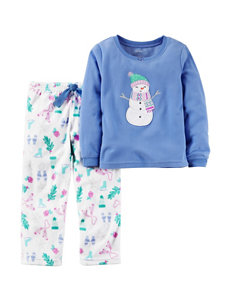 Carter's® 2-pc. Snowman Appliqué Pajamas Set - Girls 4-8