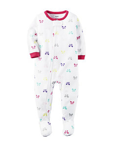 Carter's® Multicolor Bow Print Sleeper - Toddler Girls
