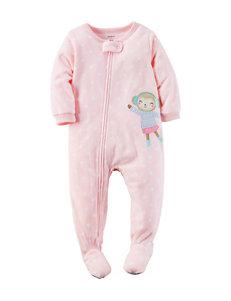 Carter's® Monkey Appliqué Sleeper - Toddler Girls