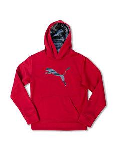 Puma® Multicolor Cat Logo Hoodie - Boys 8-20