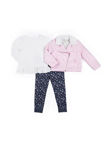 Little Lass 3-pc. Faux Leather Jacket & Leggings Set - Toddler Girls