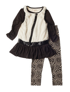 Self Esteem 3-pc. Faux Fur Vest & Leggings Set - Girls 4-6x