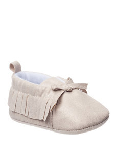 Baby Gear Moon Sparkle Faux Suede Moccasins - Baby 0-6 Mos