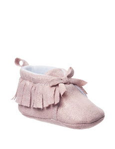 Baby Gear Moon Sparkle Faux Suede Moccasins - Baby 0-6 Mos.