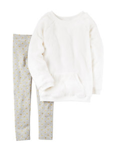 Carter's® 2-pc. Sherpa Sweater & Heart Print Leggings Set - Girls 4-8