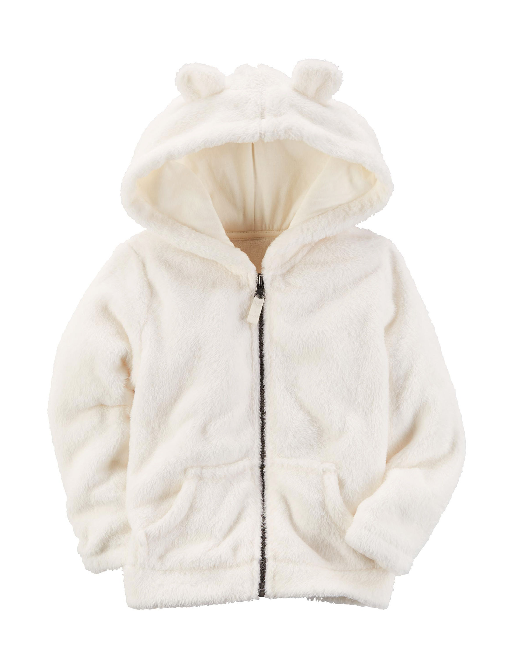 Carter's Ivory Fleece & Soft Shell Jackets