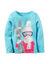Carter's® Ski Girl Glitter Top - Toddler Girls