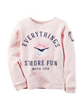 Carter's® S'more Fun Thermal Top - Toddler Girls