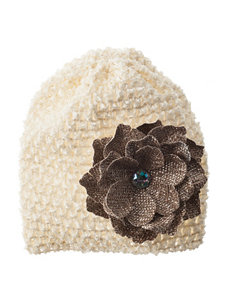 Tiny Treasures Jeweled Floral Ivory Crochet Hat