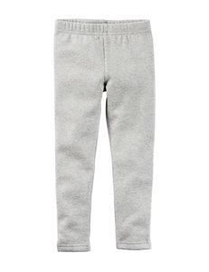 Carter's® Heather Grey Fleece Leggings – Toddler Girls