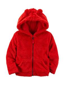 Carter's Red Fleece & Soft Shell Jackets