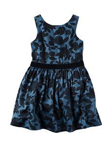 Carters® Velvet Floral Print Sateen Dress - Toddler Girls