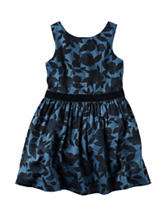 Carters® Velvet Floral Print Sateen Dress - Toddler Girls