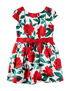 Carter's® Floral Print Sateen Dress - Toddler Girls