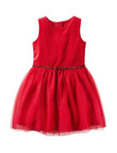 Carters® Velour Tulle Dress - Toddler Girls