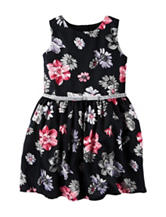 Carter's® Floral Print Glitter Bow Satin Dress - Toddler Girls