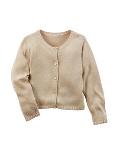 Carters® Beige Classic Cardigan - Toddler Girls
