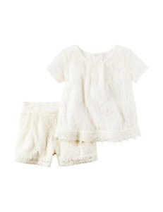 Carter's® 2-pc. Ivory Lace Top & Shorts Set - Girls 4-8