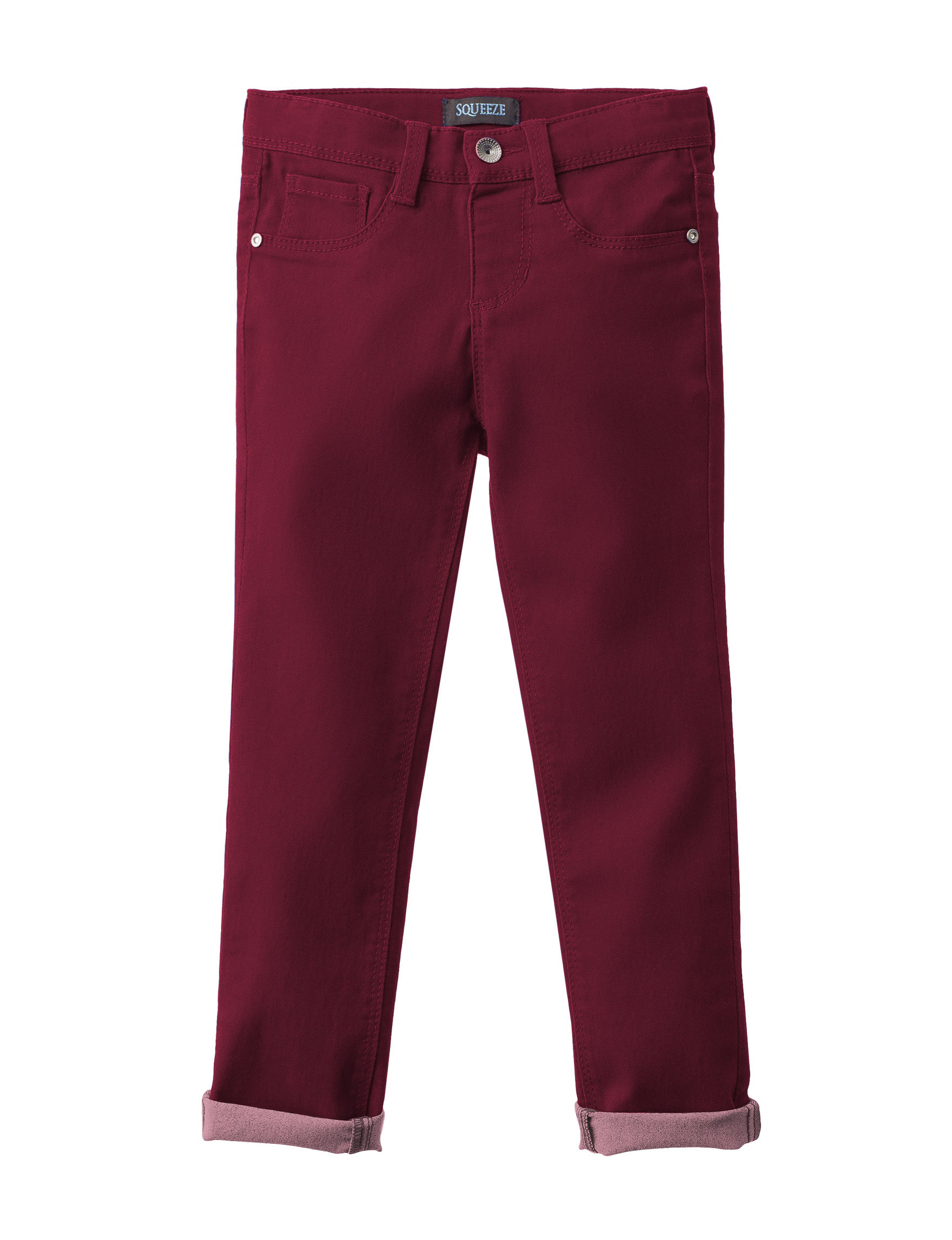 Squeeze Burgundy Soft Pants Stretch