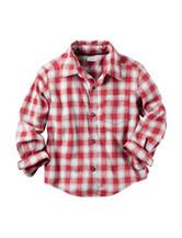 Carter's® Gingham Flannel Woven Shirt - Toddler Boys