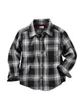 Carter's® Black Plaid Flannel Shirt - Toddler Boys