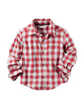 Carter's® Red Gingham Plaid Flannel Shirt - Boys 4-8