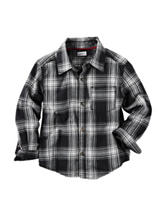 Carter's® Black Plaid Flannel Shirt - Boys 4-8
