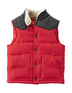 Carter's Red Puffer & Quilted Jackets