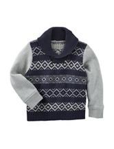 OshKosh B'gosh® Fair Isle Print Sweater - Toddler Boys