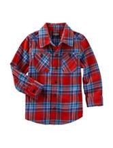 OshKosh B'gosh® Plaid Print Woven Shirt - Toddler Boys