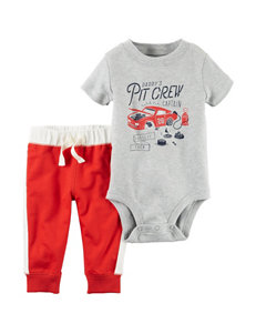 Carter's 2-Pc. Pit Crew Bodysuit & Leggings Set - Baby - 0-18 Mos.