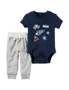 Carter's 2-Pc. Outer Space Bodysuit Set - Baby 0-18 Mos.