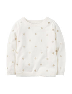 Carter's® Dot Print Sweater - Toddler Girls