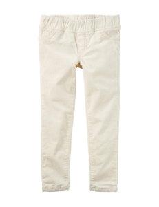 Carter's® Ivory Corduroy Pants – Toddler Girls